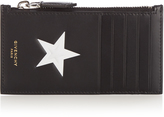 Givenchy Star print leather card holder