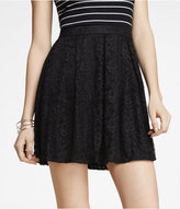 Express High Waist Lace Fit And Flare Mini Skirt
