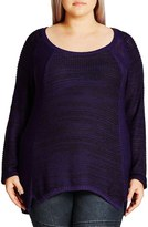 City Chic Plus Size Women's 'S&p' Sweater