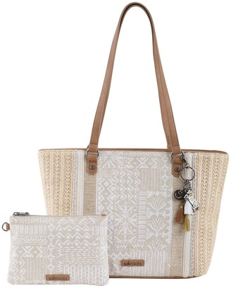 The Sak Sakroots Meadow Medium Tote Handbag with Removable Pouch