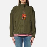 Maison Scotch Women's Relaxed Fit Army Jacket with Hidden Hood Army