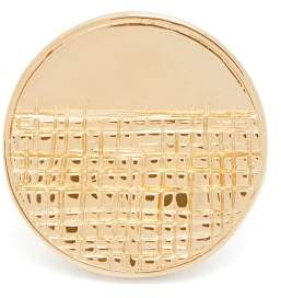 Givenchy - Half-engraved Circle Ring - Womens - Gold
