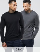 Asos Cotton Crew Neck Sweater 2 Pack -