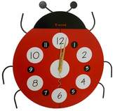 CMI Creative Motions Ladybug Clock - Red/Black