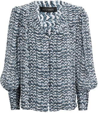 Intermix Yasmin Printed Silk Blouse