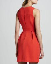 Shoshanna Sleeveless Pleated Ponte Dress