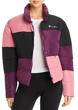 Champion Color-Block Puffer Jacket
