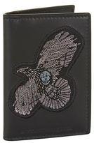 Alexander Mcqueen Open Crest Leather Cardholder