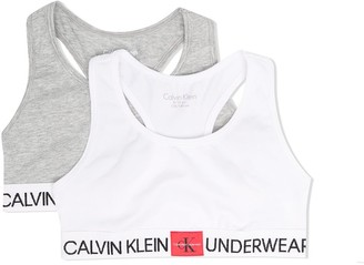 Calvin Klein Kids 2 Pack Logo Band Bralette
