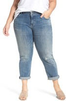 Lucky Brand Plus Size Women's Reese Distressed Stretch Boyfriend Jeans