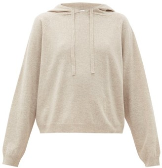 Allude Hooded Wool-blend Sweater - Light Grey