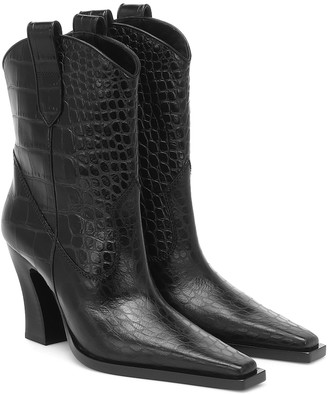 Tom Ford Croc-effect leather Western boots