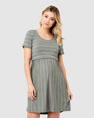 Ripe Maternity Women's Green Mini Dresses - Crop Top Nursing Dress - Size One Size, XS at The Iconic
