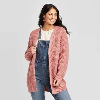 Universal Thread Women's Chunky Long Sleeve Open Layering Cardigan - Universal ThreadTM Pink