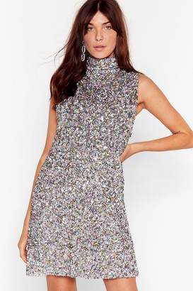 Nasty Gal Womens The Beat Goes On Sequin Mini Dress - Pink - 4