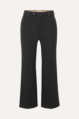Chloé Cropped Twill Flared Pants - Black