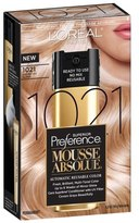 L'Oreal Superior Preference Mousse Absolue Automatic Reusable Color 1021 Lightest Icy Blonde