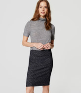 LOFT Petite Speckled Knit Pull On Pencil Skirt