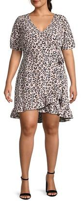 Sanctuary Plus Leopard Wrap Dress