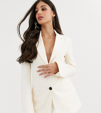 Asos Tall ASOS DESIGN Tall pop suit blazer in ivory