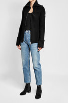 Moncler Ribbed Cardigan with Virgin Wool and Cashmere