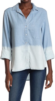 Cloth & Stone Ombre Button Down Blouse