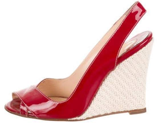 69deed5a808 Slingback Wedge Sandals Red Slingback Wedge Sandals