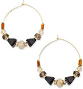 INC International Concepts Gold-Tone Multi-Bead Gypsy Hoop Earrings, Only at Macy's