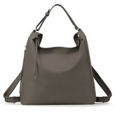 AllSaints Kita Convertible Leather Backpack - Grey