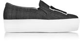 Joshua Sanders Black Denim LA Slip on Sneakers