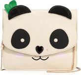 Betsey Johnson Panda Faux-Leather Clutch Bag, White