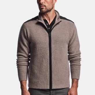James Perse Felted Cashmere Zip Up