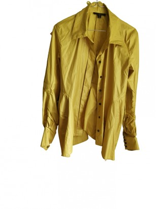 Louis Vuitton Yellow Polyester Leather jackets