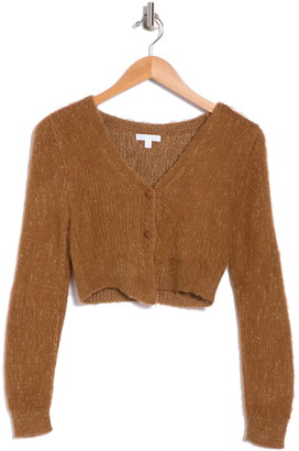 Abound Button Front Cropped Cardigan