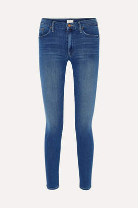 Mother The Looker High-rise Skinny Jeans - Dark denim