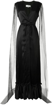 MM6 MAISON MARGIELA Plunge-Neck Sheer-Cape Gown