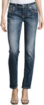 Miss Me Skinny Embroidered Denim Jeans, Medium Wash 446