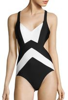 MICHAEL Michael Kors Regatta X-Back One-Piece Swimsuit