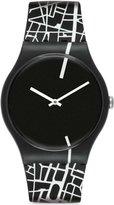 Swatch Men's Originals SUOB109 /White Silicone Swiss Quartz Watch