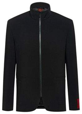 Regular-fit jacket in micro-pattern fabric