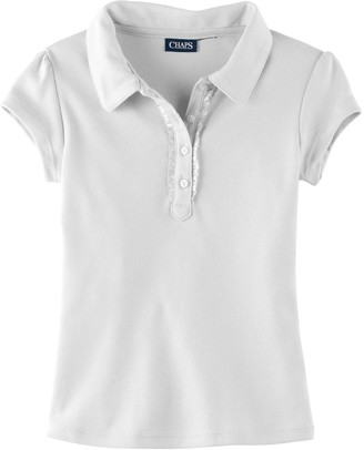 Chaps Girls 4-6x Ruffled Polo Shirt