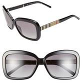 Burberry Women's 58Mm Retro Sunglasses - Black