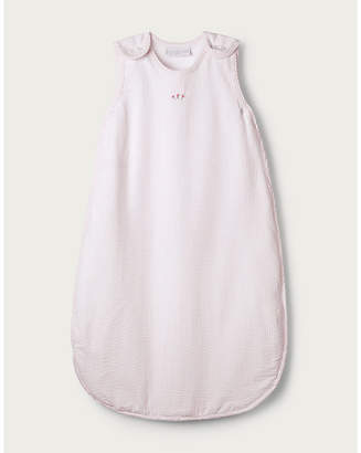 The Little White Company Floral-embroidered cotton-blend sleeping bag 6-12 months
