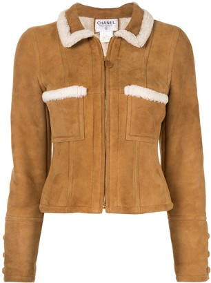 Chanel Pre Owned Long Sleeve Jacket Brown