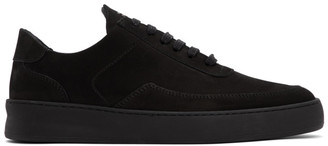 Filling Pieces Black Mondo Plain Nardo Low Sneakers