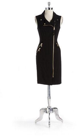 Calvin Klein Zipper Front Dress