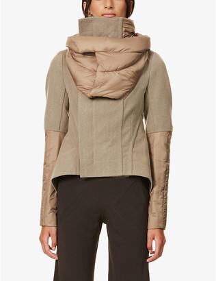 Rick Owens Naska padded-collar wool-blend jacket
