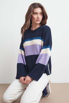 Velvet by Graham & Spencer Madeline Cotton Stripe Sweater