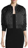 KENDALL + KYLIE Quilted Cropped Bomber Jacket