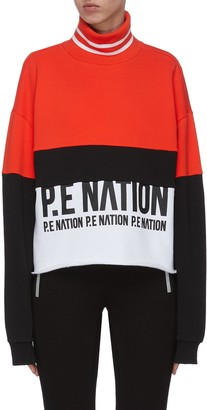 P.E Nation 'Real Challenger' colourblock turtleneck sweatshirt